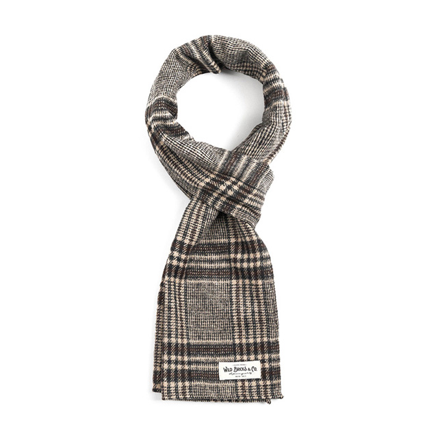 와일드브릭스EQ CHECK STOLE (brown)