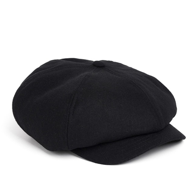 와일드브릭스MELTON WOOL NEWSBOY CAP (black)